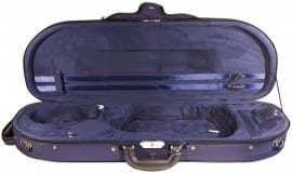 Clam shaped violin case