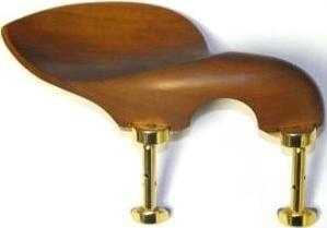 Guarneri violin chinrest (BOXWOOD, hill gold feet)