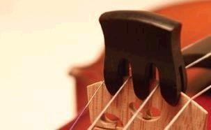 Trident violin mute - triple pronged, ebony