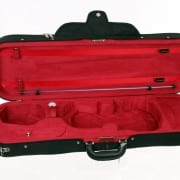 Caswells superlight violin case black/red