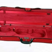 Caswells superlight violin case red/red