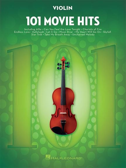 101 Movie Hits for Violin with all the favourites from the silver screen