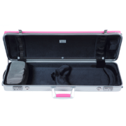BAM Hightech L'Etoile oblong violin case PINK OPEN