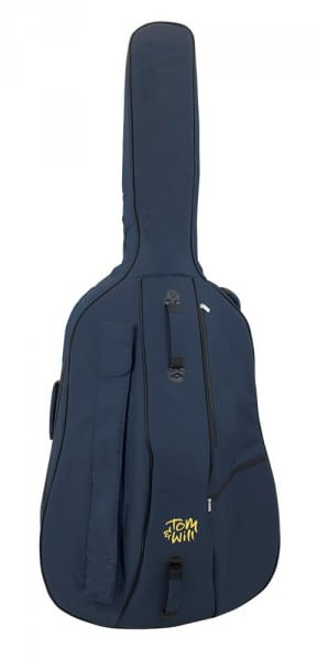 Tom and Will double bass bag Blue front