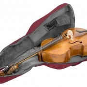 Tom and Will double bass bag Burgundy open