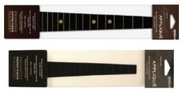 "Black fingerboard appliqué – 3/4 violin, 13"" viola"