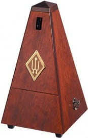 Wittner metronome Mahogany 'faced' with bell