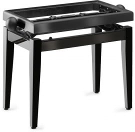 Piano stool black finish
