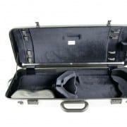 BAM Hightech oblong viola case (Silver, no pocket)