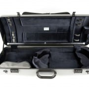 Bam Hightech oblong viola case (silver with pocket)