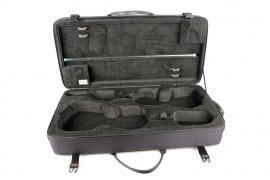 BAM Classic double violin & viola case open black