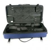 BAM Classic double violin & viola case open blue