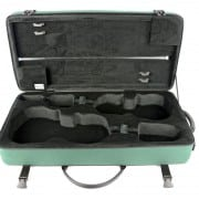 BAM Classic double violin & viola case open green