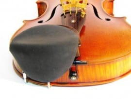 Viola stradpad chinrest pad ebony