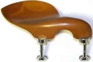 Guarneri viola chinrest (BOXWOOD, hill nickel feet)