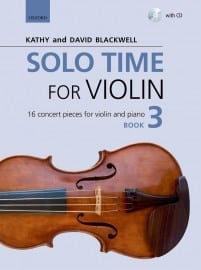 Solo Time for violin book 3 - Kathy Blackwell