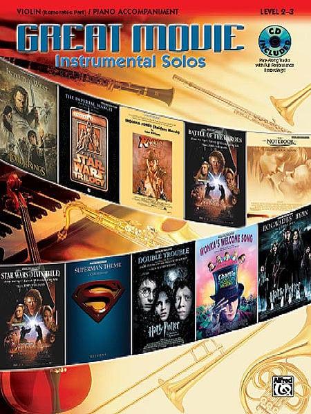Great movie Instrumental solos for violin