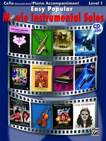 Easy popular movie instrumental solos cello