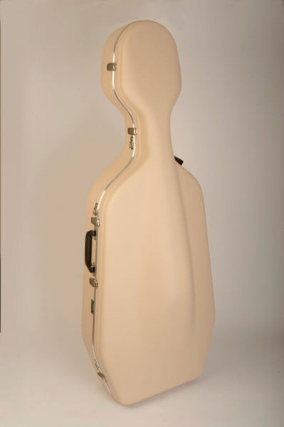 Hiscox cello case (IVORY, no wheels)