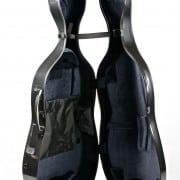 BAM Hightech 4.4 cello case Black Carbon open