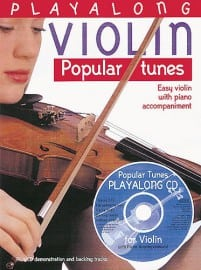 Popular tunes playalong for violin