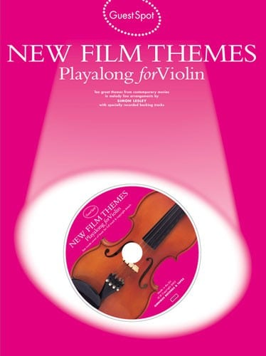 New film themes playalong for violin