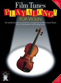 Film tunes playalong for violin