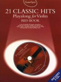 21 classic hits playalong, for violin