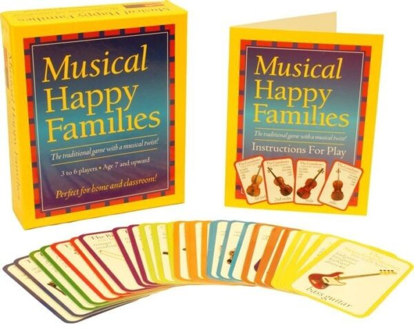 Musical happy families game