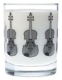 Clear glass Tumbler - Violin design