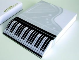 A6 slant pad with music design