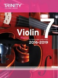 TCL Violin Grade 7 Exam pieces 2016-2019