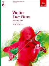 Violin grade 6 exam pieces 2016-2019, ABRSM