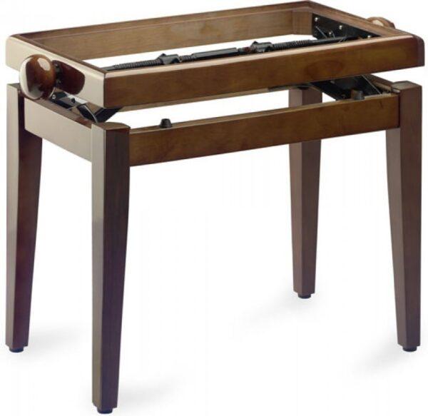 Piano stool walnut finish