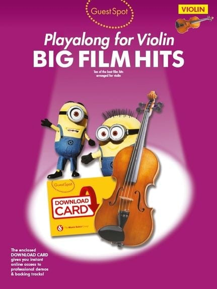 Guest Spot Big Film Hits Playalong For Violin (Book/Download Card)