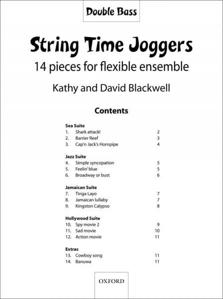 String Time Joggers Double bass part