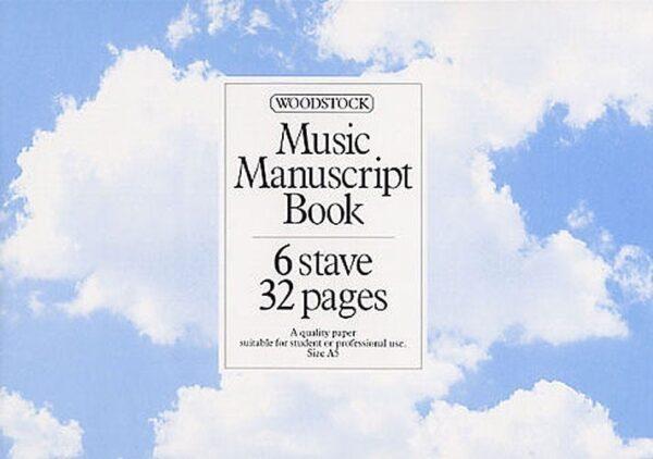 Music Manuscript Paper: 6 Stave - 32 pages (A5L Stitched)