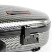 BAM Hightech Cabin Violin case silver carbon detail