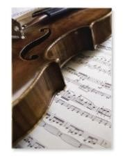Notebook - lined paper 20 pages - violin