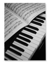Notebook - lined paper 20 pages - piano