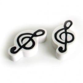 Eraser - treble clef (pack of 2)
