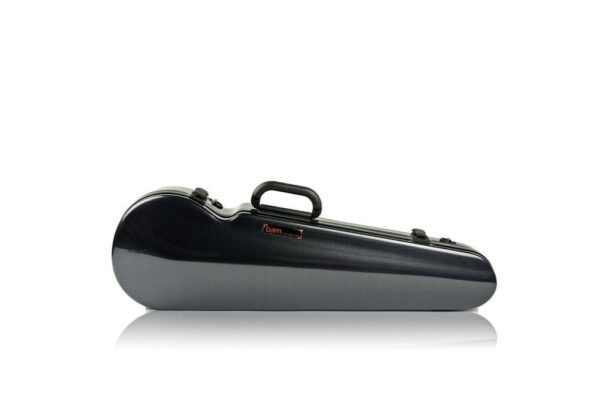 BAM Hightech contoured carbon black violin case