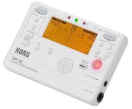 Korg TM50 tuner metronome white