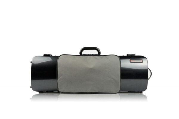 BAM Hightech Oblong Black Carbon Violin case with pocket