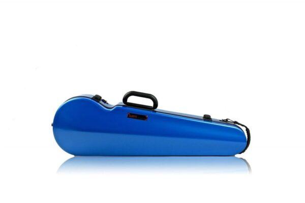 BAM Hightech contoured Azure blue violin case