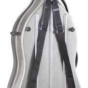 Hidersine cello case Grey back