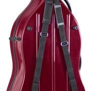 Hidersine cello case Wine red back