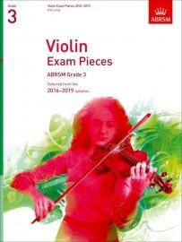 Violin grade 3 exam pieces 2016-2019, ABRSM