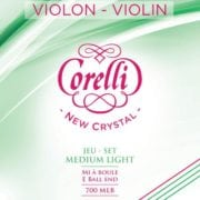 Corelli Crystal violin string set with Ball End Soft