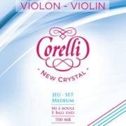 Corelli Crystal violin string set with Ball End medium